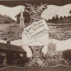 003M Xmas and New Year greeting from Lakenheath postcard